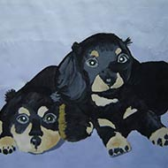 Dog Siblings Painting